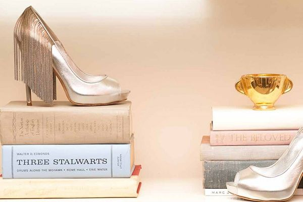 """Peep Lauren Conrad's (Chanel-Filled!) L.A. Pad — STAT! #refinery29  http://www.refinery29.com/the-coveteur/18#slide21  """"I found these in Capri while vacationing in Italy with my family a few years ago. They are more art than footwear. I've only worn them a couple of times because they are so delicate. I love how they dance as you walk.""""     Shoes: Alexander McQueen"""