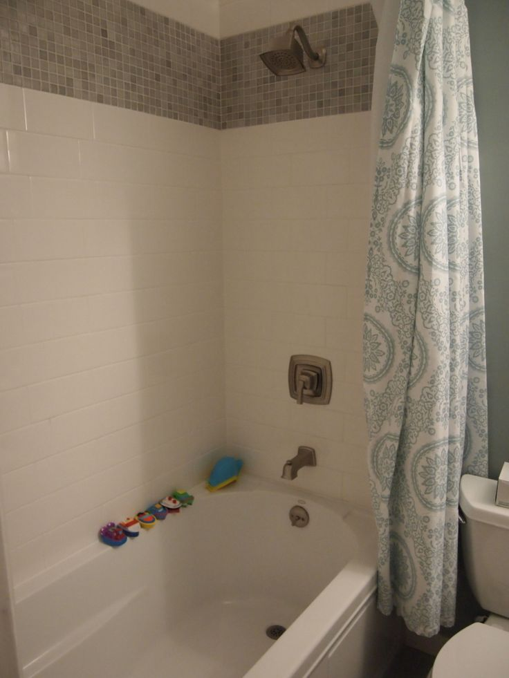 Small Bath Project Is Almost Complete We Did The Extra Wide Tile Band