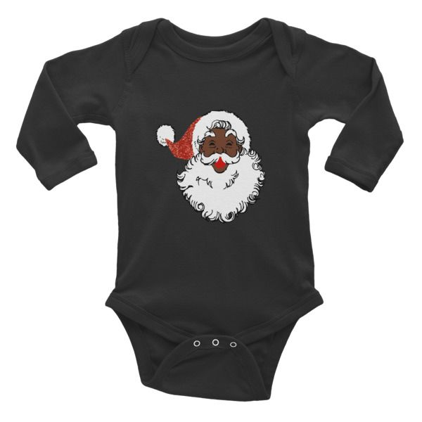 sequin African santa claus Infant long sleeve one-piece