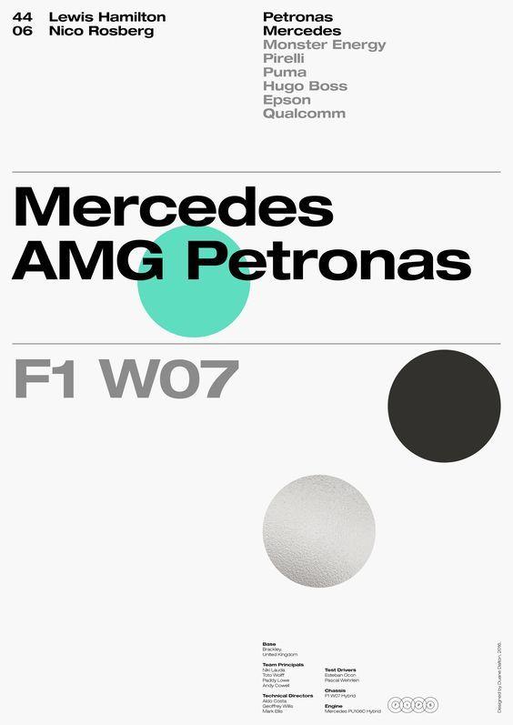 Duane Dalton / Formula One Poster Series 2016 / Mercedes AMG Petronas / Poster / 2016