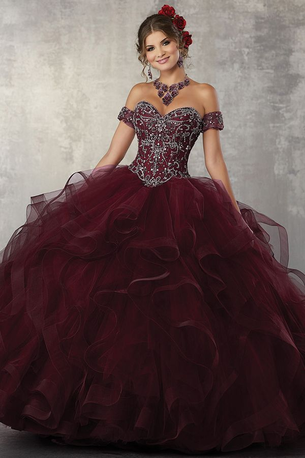 eca0a3df39 Marvelous Tulle Sweetheart Neckline Ball Gown Quinceanera Dress With  Beadings