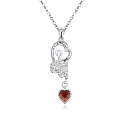 $11,8 Cupid's arrow of love Swarovski crystal necklace - Jewelry Wholesale. BEST PRICE: Directly in the jewelry factory. VAT-free shopping: Available, partners based in the European Union, only applies to EU tax identification number (UID). Exclusive design SWAROVSKI crystals and AAA Zircon crystal jewelry and men's stainless steel jewelry and high-quality stainless steel jewelry for couples sell in bulk to resellers! Please contact us.