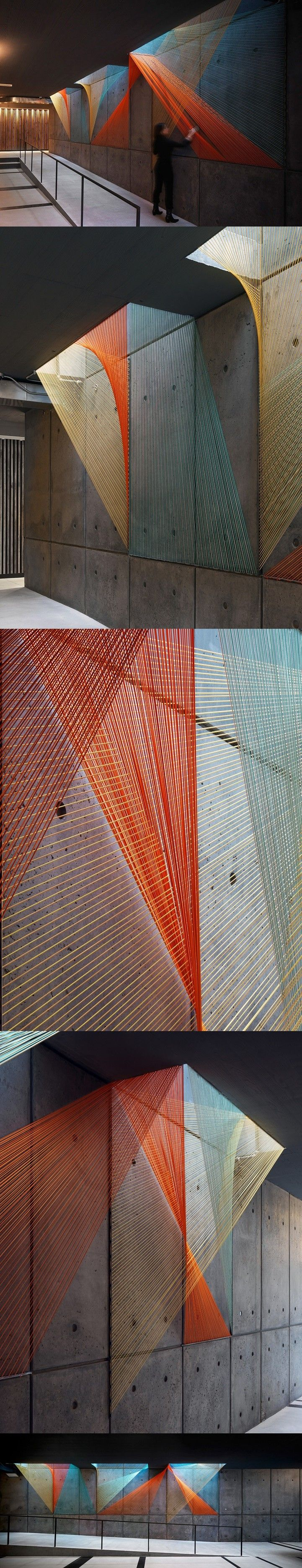 Playful Rope Installation by Inés Esnal Adds Multifaceted Color to Gray Concrete…