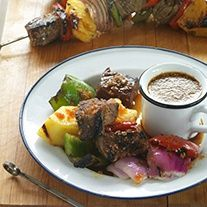 Grilled Steak, Pineapple And Mixed Pepper Kebabs With Veri Veri Teriyaki Soy Vay Recipes - A Sea of Delicious Chinese & Japanese Cuisine | Soy Vay