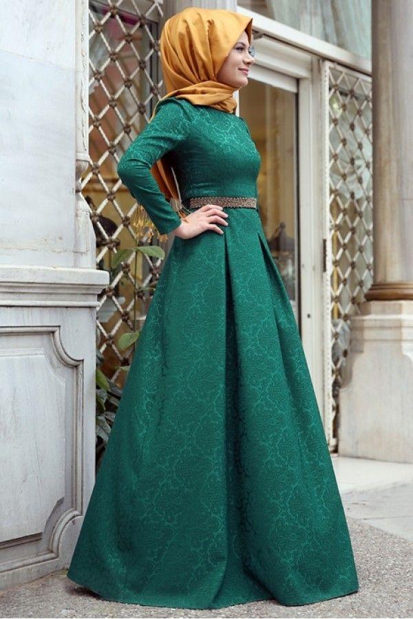 EDA ERTUNÇ Açelya Zümrüt Elbise :) Muslimah fashion & hijab style