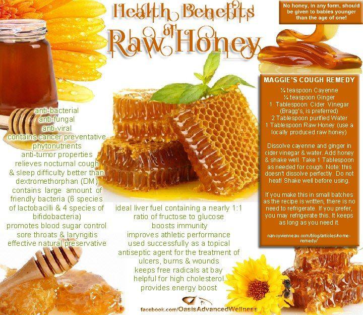 Health Benefits of Raw Honey  www.facebook.com/OasisAdvancedWellness