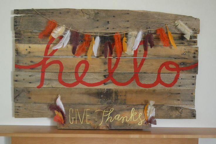 Feather Garland DIY Fall Decor