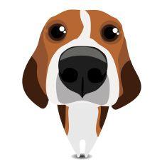 Funny sad beagle vector art illustration
