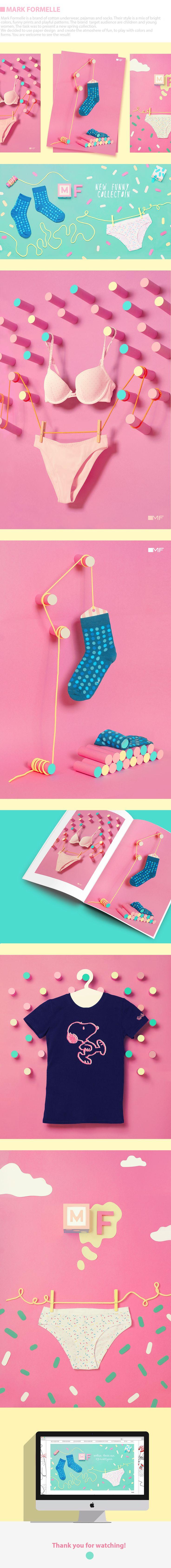 fashion set | fashion photo| product photo | flat photo | flat design | socks | women underwear | COTTON STORIES on Behance