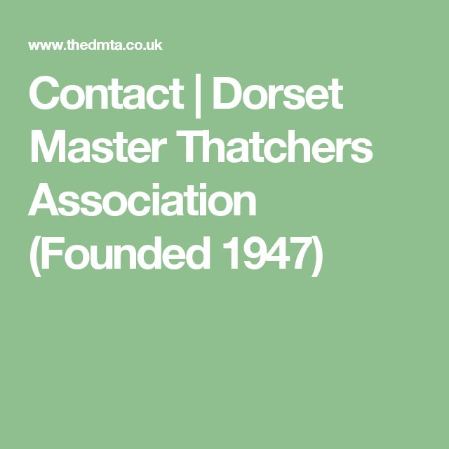 Contact | Dorset Master Thatchers Association (Founded 1947)