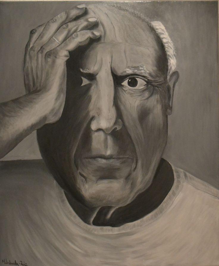 Picasso portrait, oil on canvas by Justyna Molendowska-Ruiz