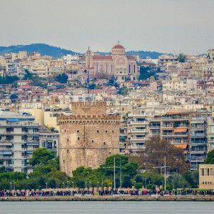 A view of Lefkos Pirgos - Thessaloniki Kostas Arvanitis