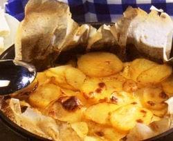 Krumplilepény feta sajttal