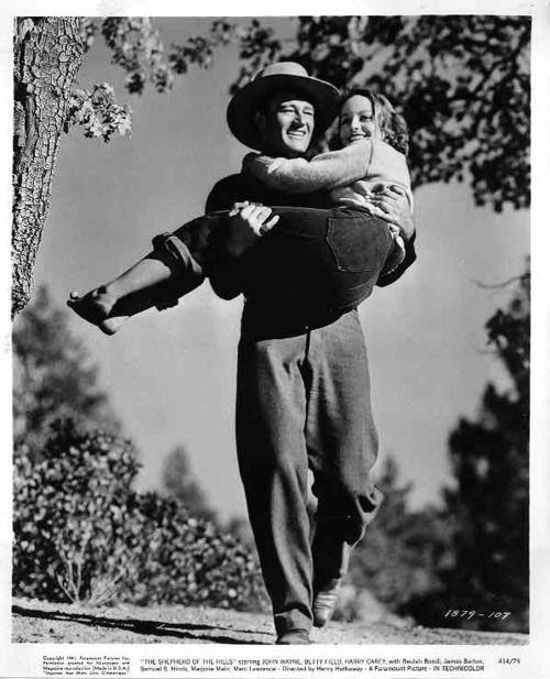 John Wayne and Betty Field in Henry Hathaway's The Shepherd of the Hills (1941).