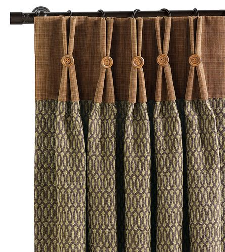 Heartwood Earth Curtain Panel from Eastern Accents