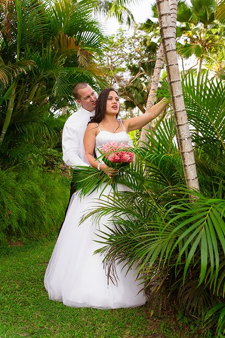 Outrigger Fiji Beach Resort Wedding Ideas Planning Inspiration Tropical Paradise Style Floral Design Planning Photography Outdoor Palms Garden Ferns Greenery Nature Bouquet Love Bride Groom Pose Stunning Magical