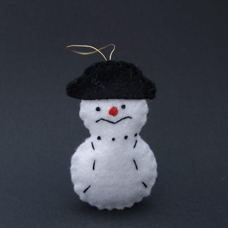 Mr snowman - christmas snowman, christmas tree decor, christmas eve, lovely snowmen, merry christmas - by HalloweenOrChristmas on Etsy