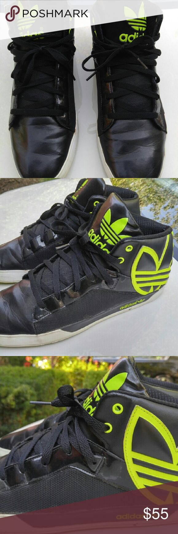 Mens Adidas Vulc West Originals Sneakers Awesome Adidas Vulc Shoes in Black and Electric Yellow. adidas Shoes Sneakers