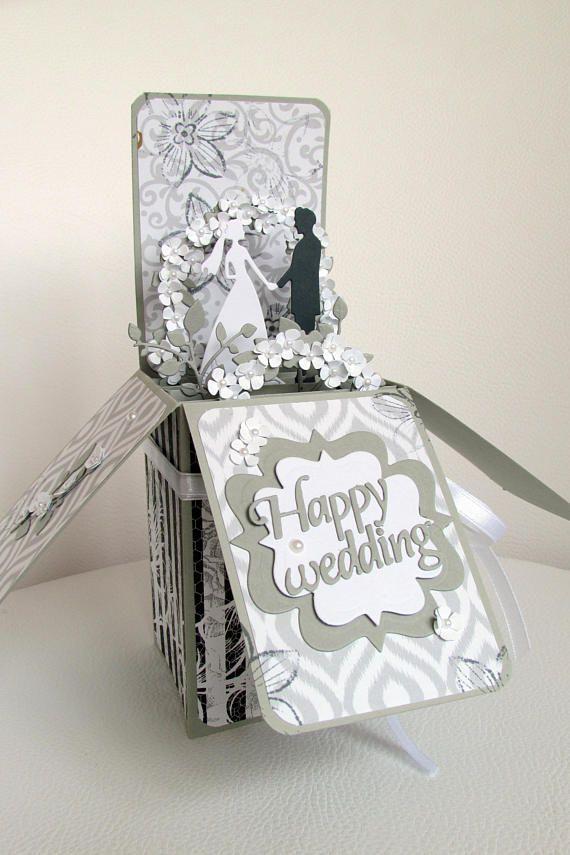 Wedding card in a box Wedding pop