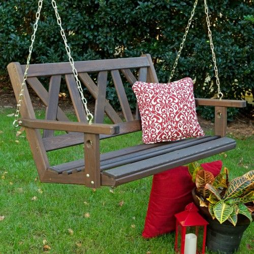 Porchgate Amish Haven Red Cedar Outdoor Patio Swing