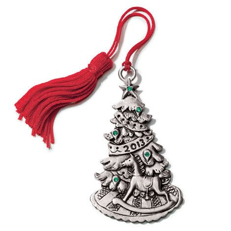 2013 Christmas Tree Pewter Ornament Hang This Festive