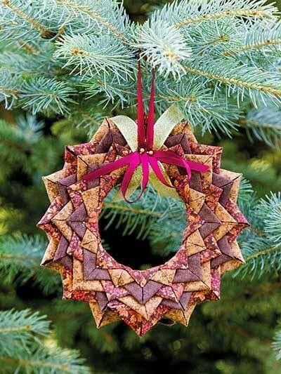 Wreath Ornament - Fabric Folding