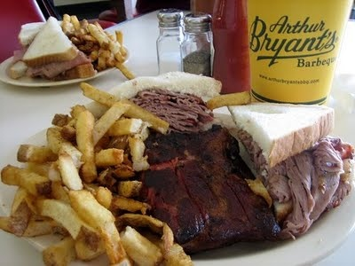 The world's most famous barbeque: Arthur Bryant's in Kansas City, Missouri.
