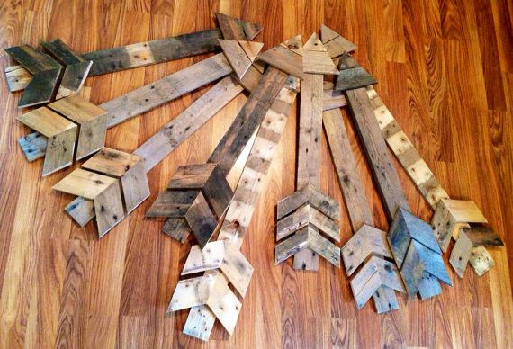 Reclaimed Wood Farmhouse Arrow-This arrow is made of reclaimed Missouri wood and weathered by the natural elements providing a unique texture and finish. The options are endless. You could use this arrow for hanging on the wall or leaning against the wall
