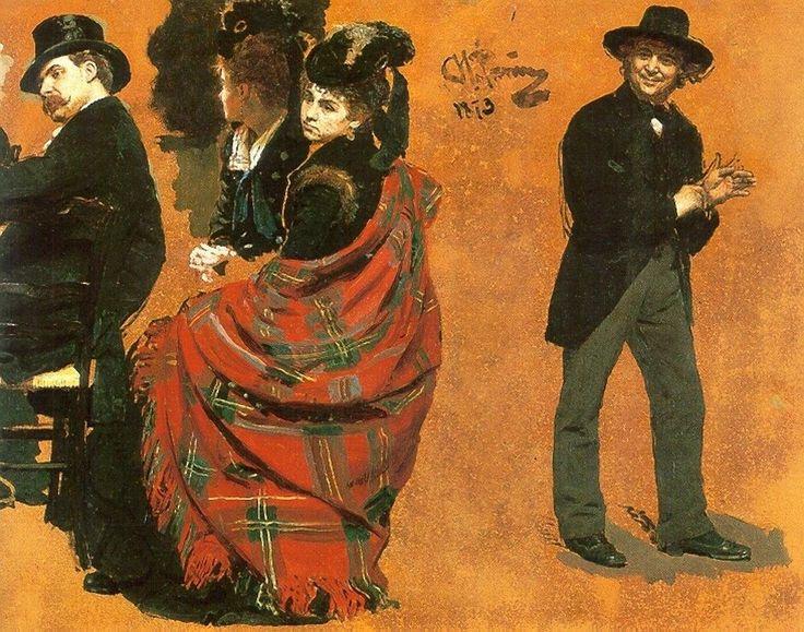 Ilya Repin | A Parisian Cafe / Un caffè Parigino, 1875 | Tutt'Art@ | Pittura * Scultura * Poesia * Musica |