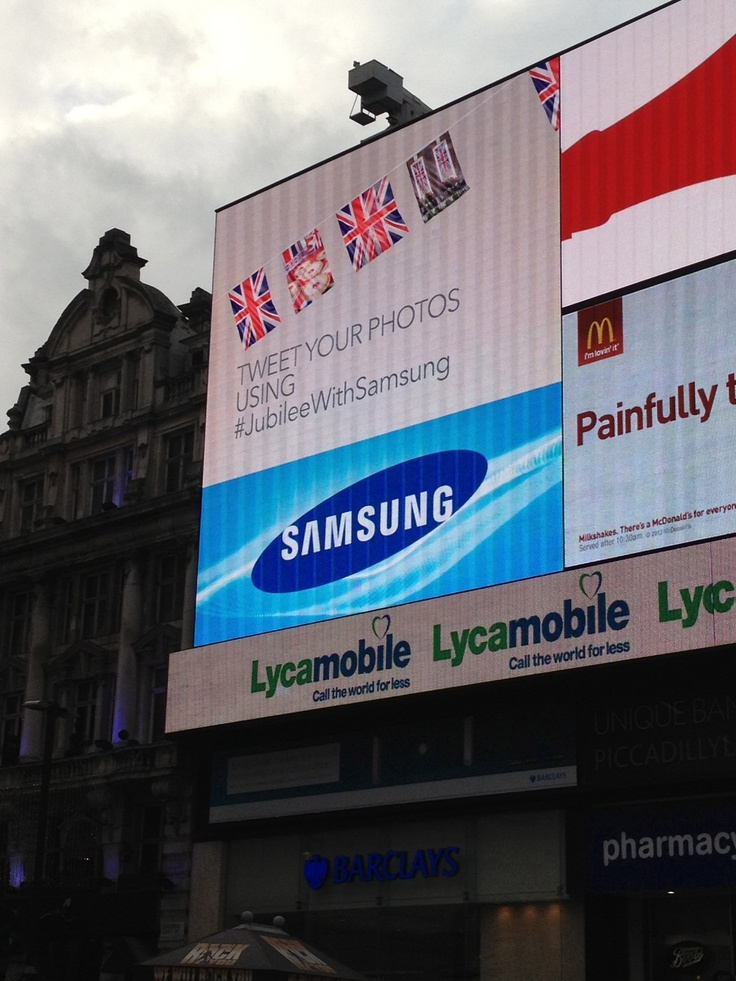 Our Jubilee Celebration Project at Piccadilly...