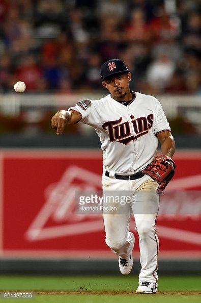 News Photo : Eduardo Escobar of the Minnesota Twins makes a...