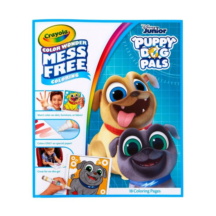 Crayola Disney Puppy Dog Pals 18pg Color Wonder Travel Refill Book In 2020 Color Wonder Crayola Coloring Pages Disney Coloring Pages
