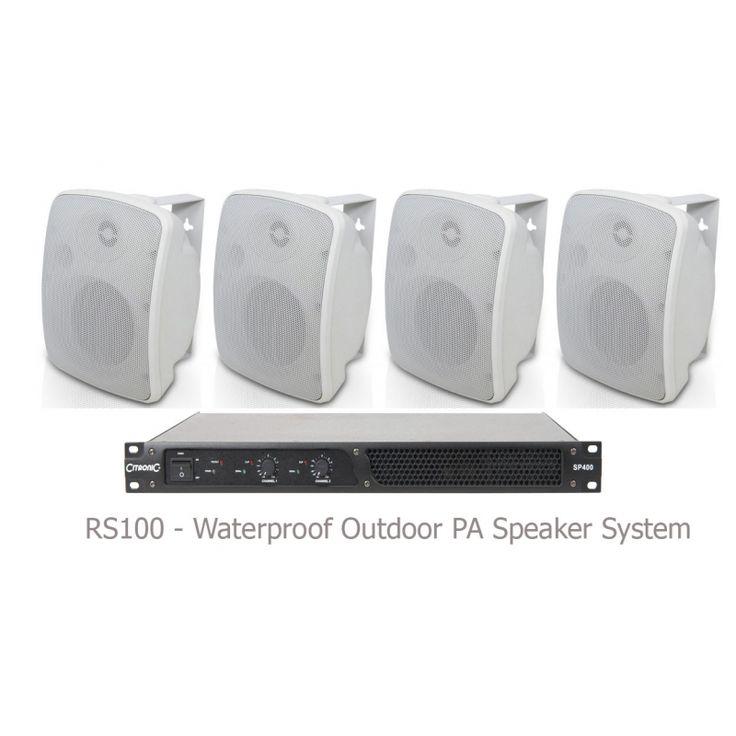 Hide these under Fake stone or huge fake water Rocks Waterproof Speakers / Outdoor Sound System @ RS100