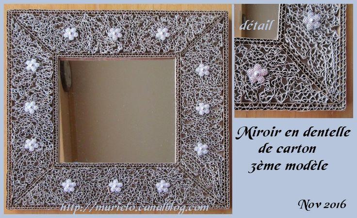 pingl par muriel lojou sur miroirs et cadres en dentelle de carton pinterest. Black Bedroom Furniture Sets. Home Design Ideas