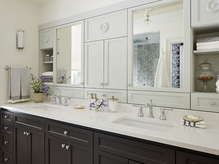 Cambrias Newport With Dark Cabinets For A Striking