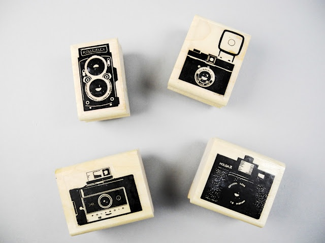 Classic camera rubber stamps by Paper Pastries