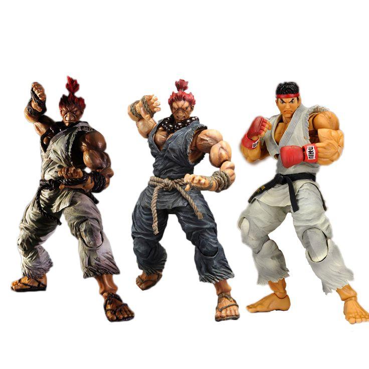 3 Types PLAY ARTS KAI  Player Select Street Fighter IV 4 Gouki Ryu Akuma PVC Action Figure Collectible Model Toy 25cm