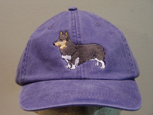 Pembroke Welsh Corgi Dog Hat  One Embroidered Men by priceapparel