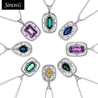 8 best simon g jewelry images on pinterest simon g jewelry simon g green tourmaline diamond rectangle filigree vintage style pendant necklace tp226 audiocablefo