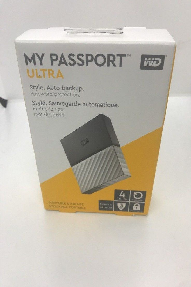 104 44 Wd My Passport Ultra 4tb External Usb 30 Portable Drive Gray Black New Free Ship Passport Ultra External Portable Drive Gr Usb Ebay Driving