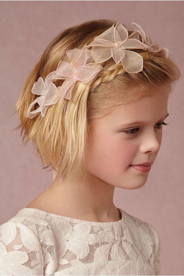 Frisuren für kleine Mädchen für lange und kurze Haare für