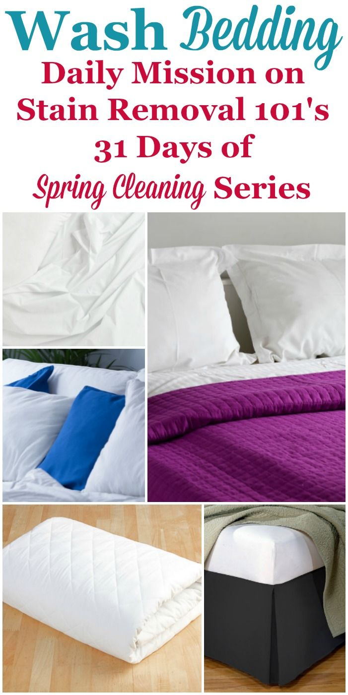 How To Wash Bedding Spring Cleaning Cleaning Household