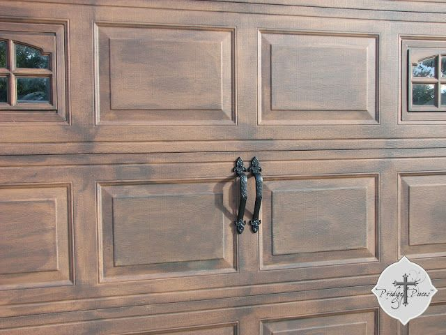 39 best images about faux wood garage doors diy on for Faux painted garage doors