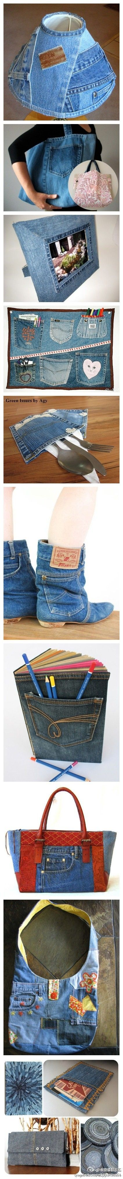 Re-purpose jeans into blue jeans boots http://haveheartdaily.net