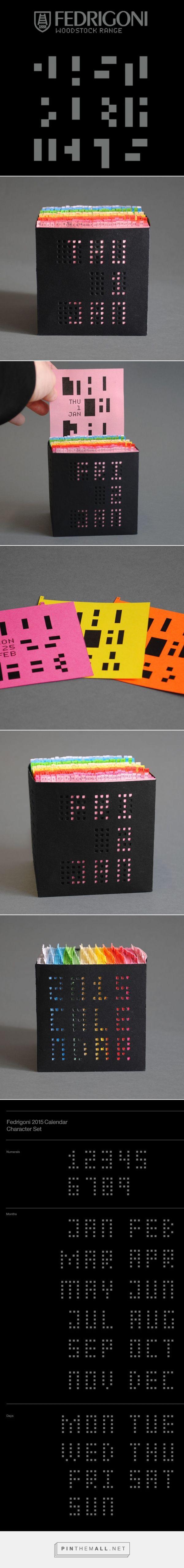 Interesting calendar packaging and design - Fedrigoni 2015 Calendar designed by Stuart Greer.