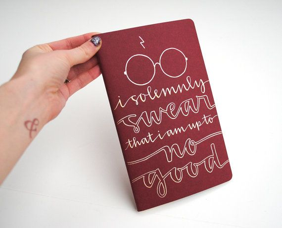 Harry potter inspired notebook modern calligraphy