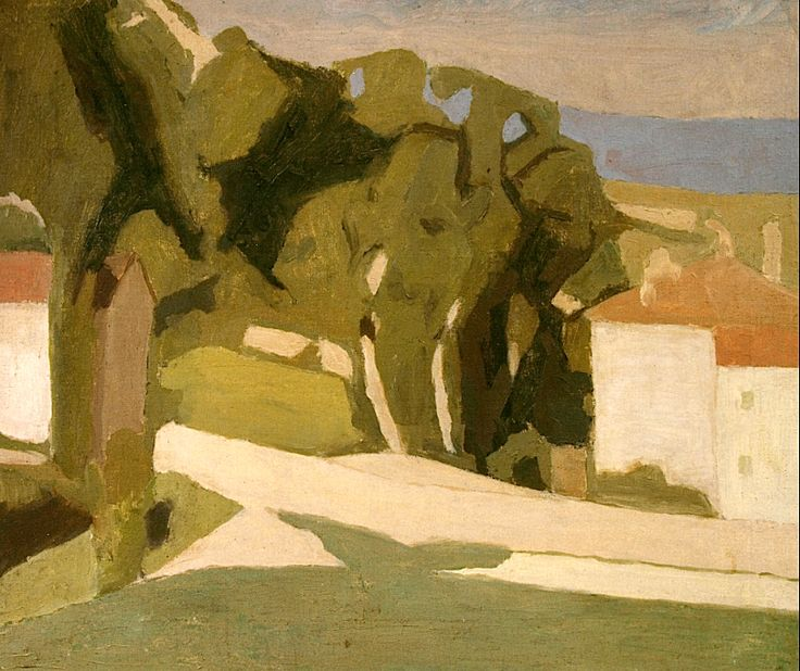 Giorgio Morandi, Landscape (Country), 1935, oil on canvas, Torino, Municipal Gallery of Modern and Contemporary Art