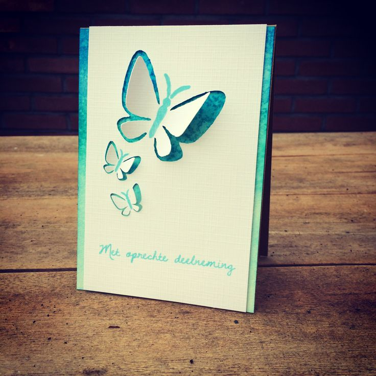 With sympathy #card #handmade #distress #silhouette