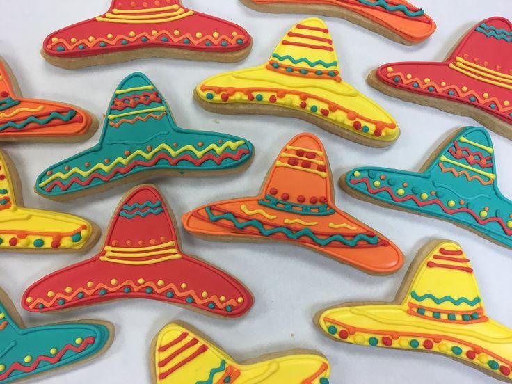 Colorful Sombrero Cookies fo Cinco de Mayo!