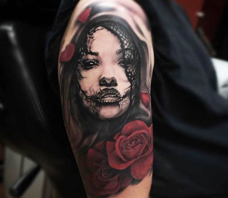 Creepy Face tattoo by Kris Busching